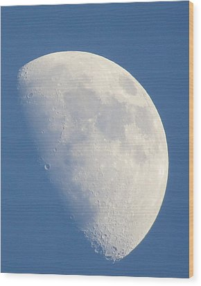 Moon Rise Copperville Wood Print
