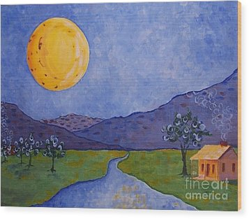 Moon River Wood Print by Susan Williams