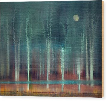 Moon River Wood Print by William Schmid