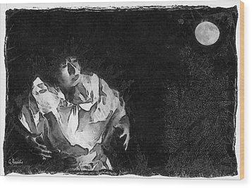 Moon Shadow Wood Print by George Rossidis