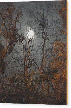 Moon Shiner Wood Print by Guy Ricketts