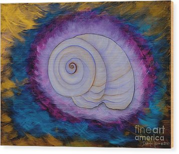 Moon Snail Wood Print