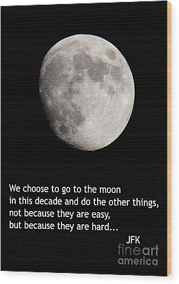Moon Speech Wood Print
