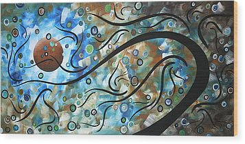 Moon Spell By Madart Wood Print by Megan Duncanson
