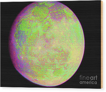 Wood Print featuring the photograph Moon - Super Moon by Susan Carella