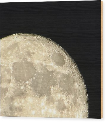 Moon Walk Wood Print