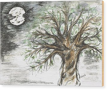 Moon Whisper  Wood Print