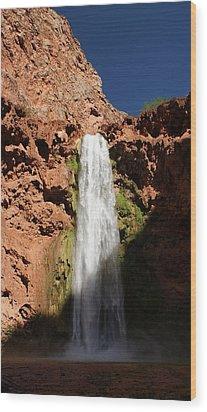 Mooney Falls Grand Canyon Wood Print by Michael J Bauer