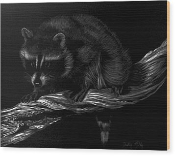 Moonlight Bandit Wood Print by Dustin Miller