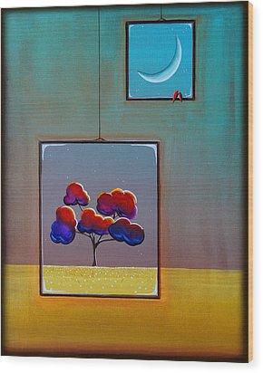 Moonlight Wood Print by Cindy Thornton