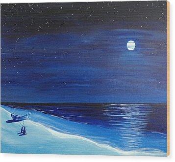 Moonlight Company Wood Print