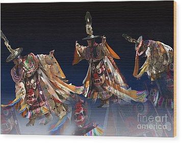 Wood Print featuring the digital art Moonlight Dance by Angelika Drake
