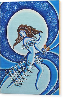 Moonlight Dancer Wood Print