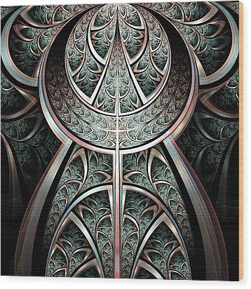 Moonlight Gates Wood Print by Anastasiya Malakhova