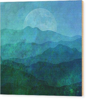 Moonlight Hills Wood Print by Gary Grayson