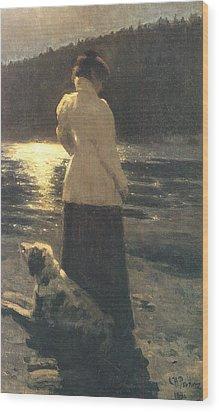 Moonlight Wood Print by Ilya Repin