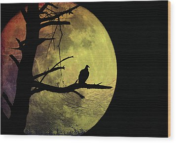 Moonlight Mile Wood Print by Bill Cannon