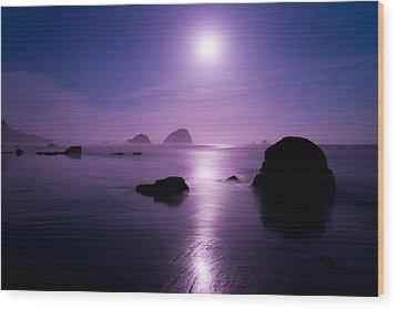 Moonlight Reflection Wood Print by Chad Dutson