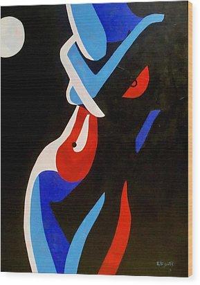 Moonlight Wood Print by Rute Santos