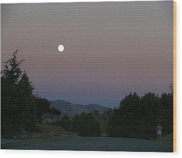 Moonlight Stroll Wood Print by Jacquelyn Roberts