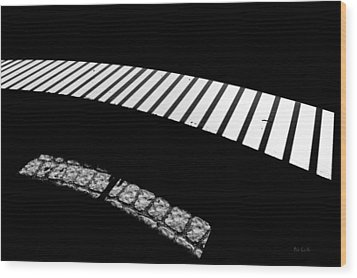 Moonlight Under The Highway Wood Print by Bob Orsillo