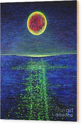 Moonlight Wood Print by Viktor Lazarev