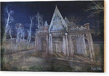 Moonlit Cape Cod Wood Print