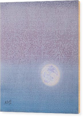Wood Print featuring the painting Moonrise by Margaret Bobb