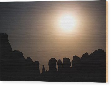 Moonrise Over Eden Wood Print