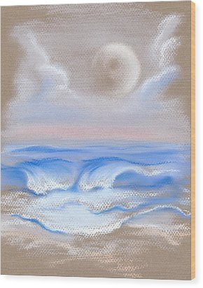 Moonrise Over Myrtle Beach Wood Print