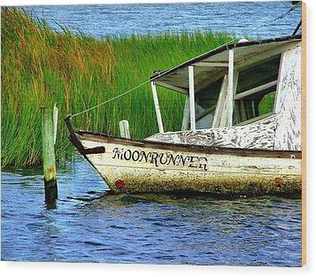 Moonrunner's Last Days Wood Print by Julie Dant