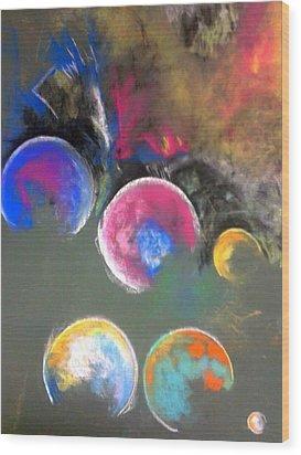 Moons Of Jupiter Wood Print by Thomas Petrizzo