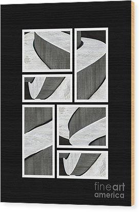 Moonscapes. Abstract Photo Collage 01 Wood Print by Ausra Huntington nee Paulauskaite