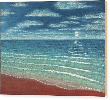 Moonset C Wood Print