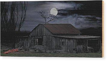 Moonshine Nights Wood Print