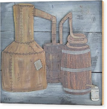 Moonshine Still Wood Print by Eric Cunningham