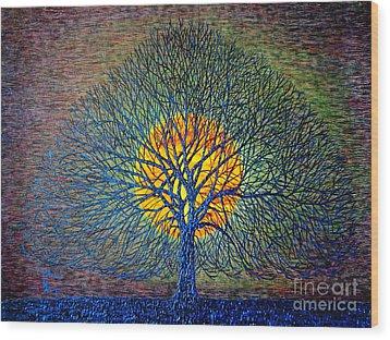 Moonshine Wood Print by Viktor Lazarev