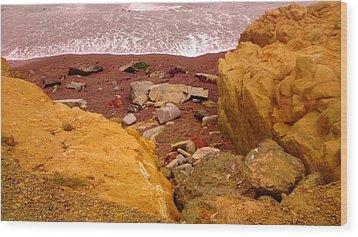 Moonstone Beach Wood Print by Sharon Costa