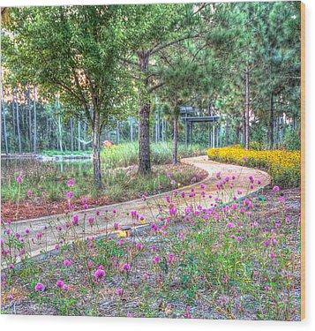 Moore Garden Stroll Wood Print by Patricia Schaefer