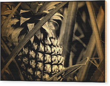 Moorea Pineapple Wood Print by Milton Thompson