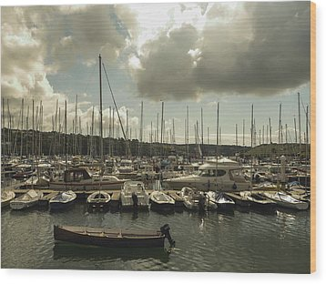 Wood Print featuring the photograph Moored Boats by Winifred Butler