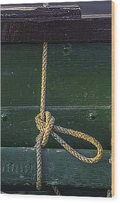 Wood Print featuring the photograph Mooring Hitch by Marty Saccone