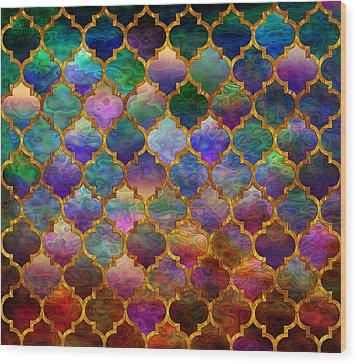 Moorish Mosaic Wood Print by Lilia D