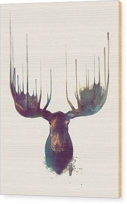Moose Wood Print by Amy Hamilton