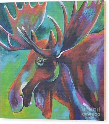Moose Wood Print by Cher Devereaux