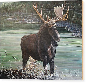 Moose County Wood Print