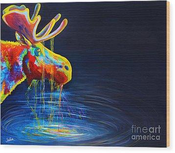 Moose Drool   Wood Print