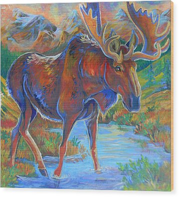 Moose Wood Print by Jenn Cunningham