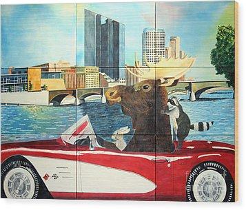 Moose Rapids Il Wood Print by LeAnne Sowa