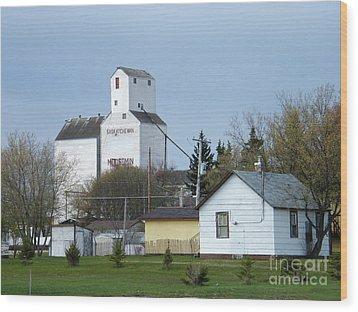 Wood Print featuring the photograph Moosomin - Saskatchewan - Canada by Phil Banks